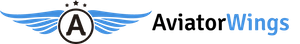 Aviator Blue Wings Logo