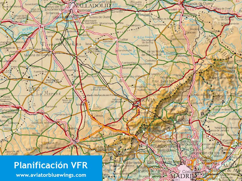 Planificacion VFR. Familiarización con la ruta.